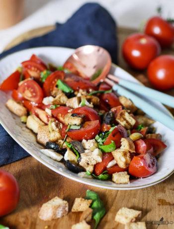 glutenfreier Tomaten - Brot- Salat