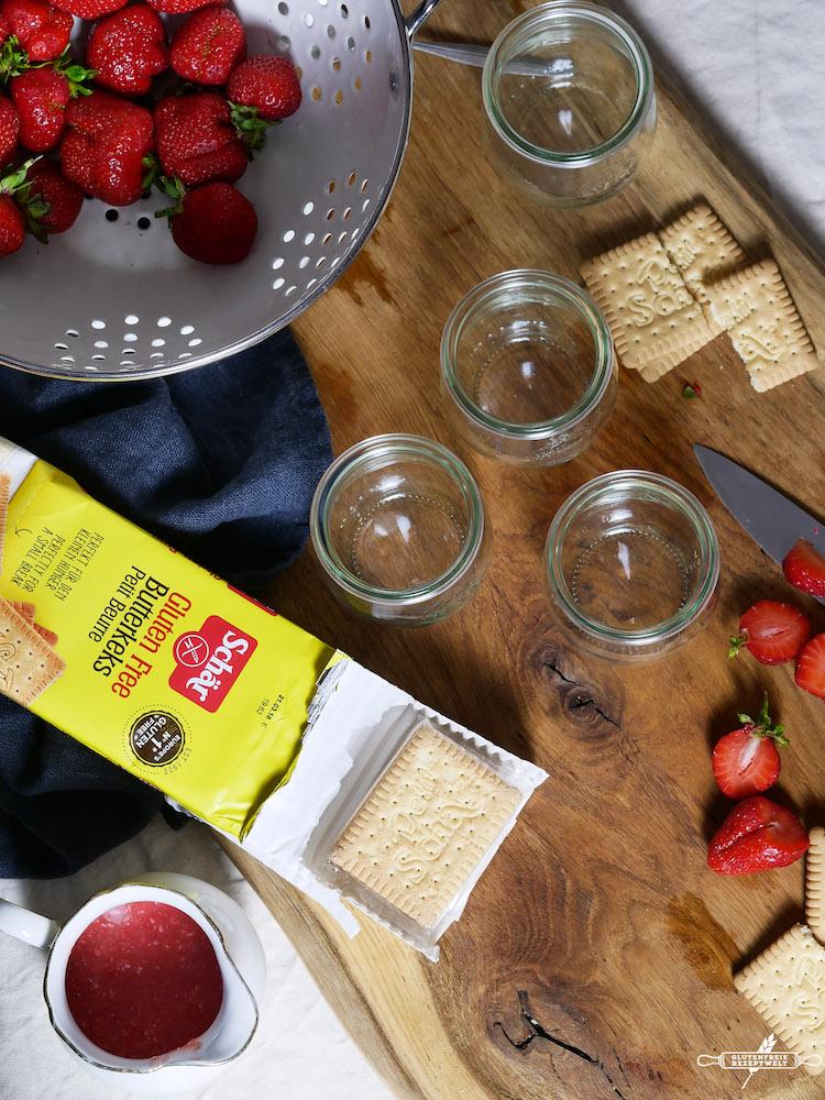 glutenfreies Erdbeertiramisu mit Kokos