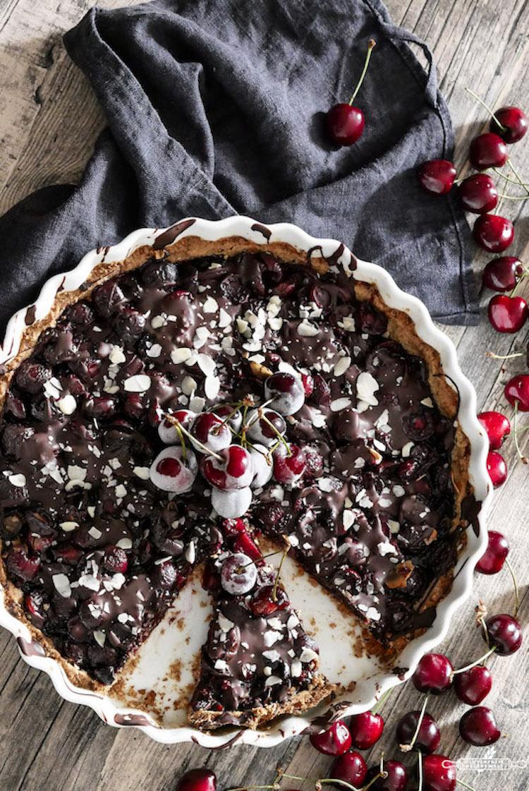 Vegan Glutenfreie Kirschtarte Mit Schokolade Glutenfreie Rezeptwelt