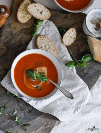 Gazpacho oder kalte Tomatensuppe