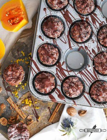 Schokoladen-Kürbismuffins