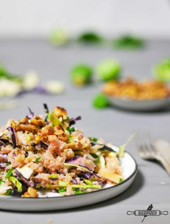Quinoa Salat mit Winterkohl
