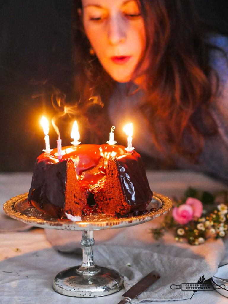 Schokoladen - Geburtstagskuchen