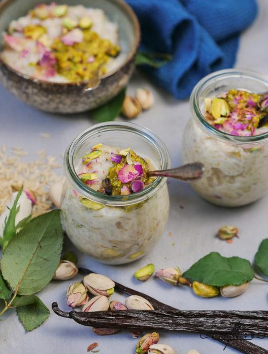 Vollkorn Jasmin Reis-Pudding, vegan und glutenfrei