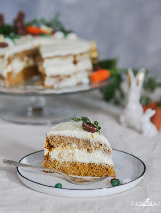 Glutenfreier Karottenkuchen mit Zitronencreme Frosting