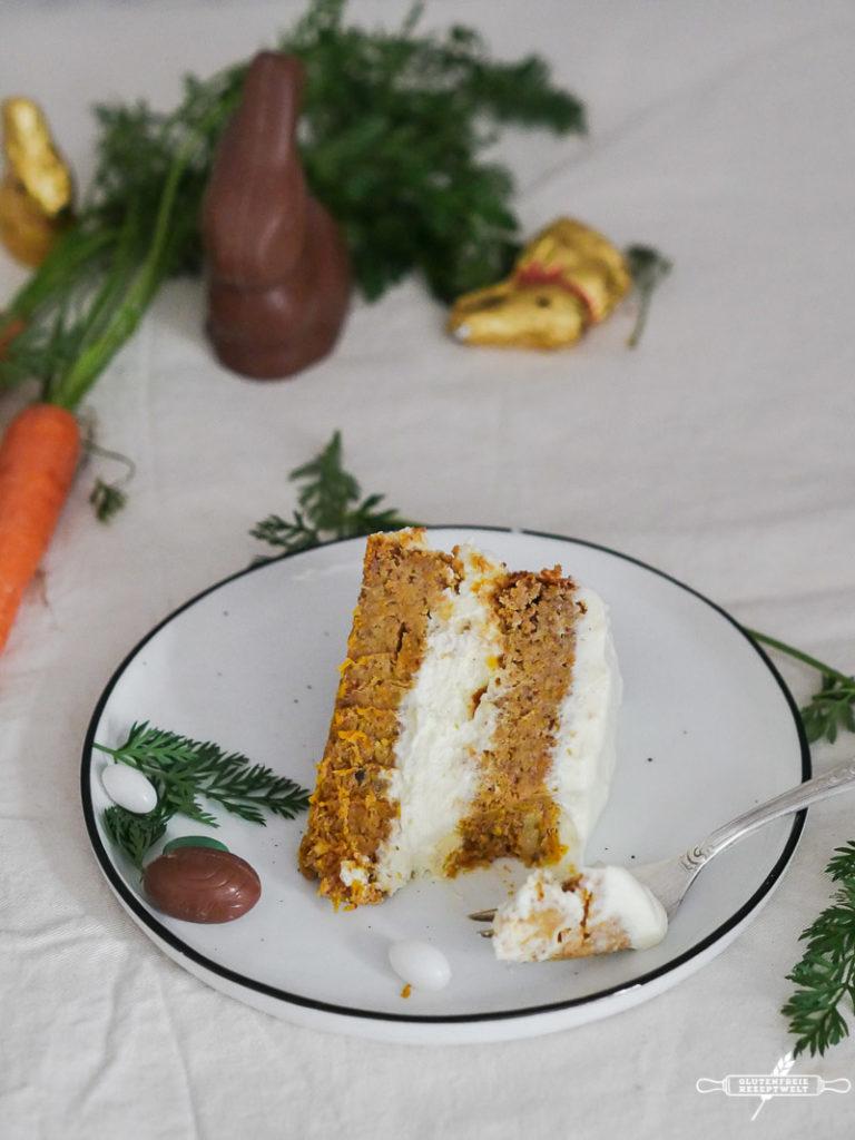 Glutenfreier Karottenkuchen mit Zitronencreme