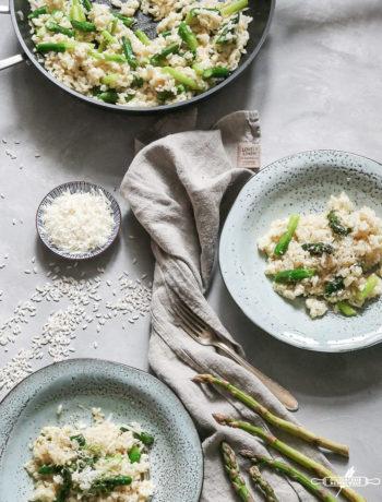 risotto mit grünem Spargel
