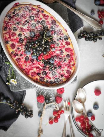 Glutenfreies Sommer - Beeren Clafoutis