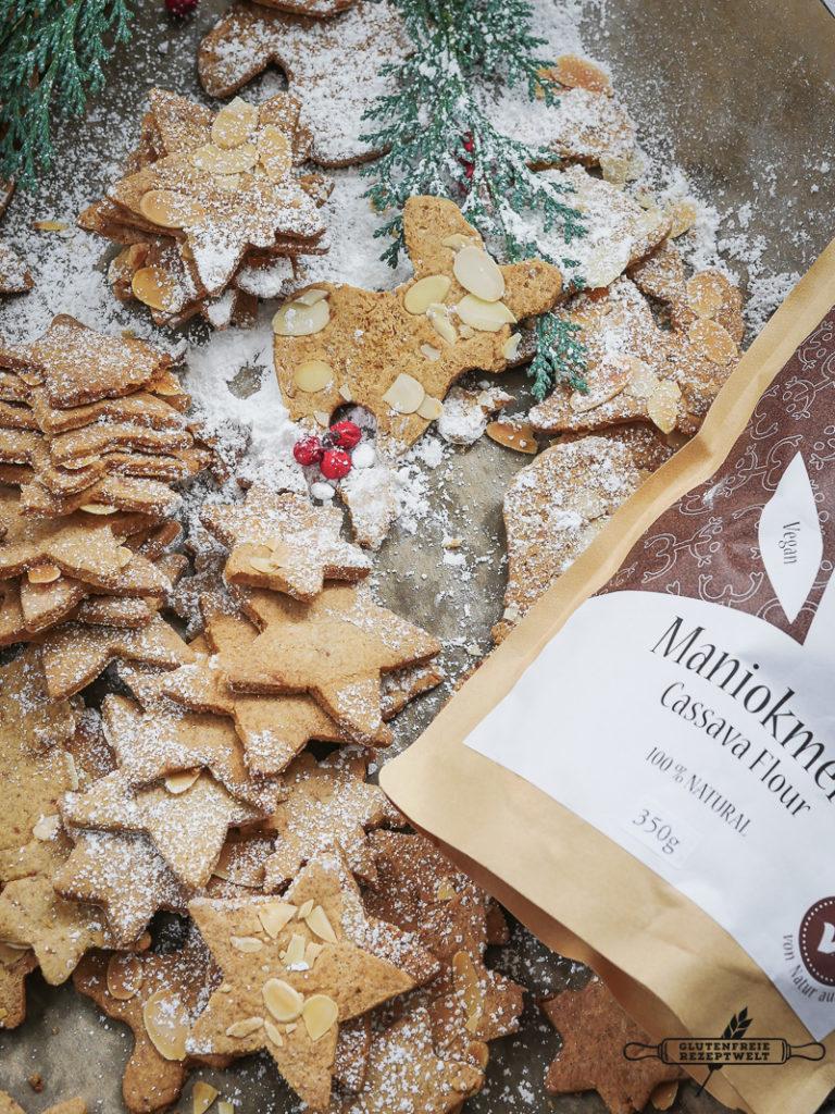 Glutenfreie Butter-Spekulatius mit Mandel- Maniokmehl