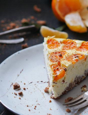 Mandarinen - Käsekuchen mit Spekulatius, glutenfrei