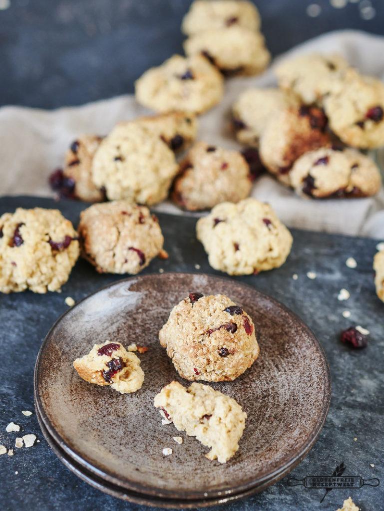 Glutenfreie Haferflocken-Kekse