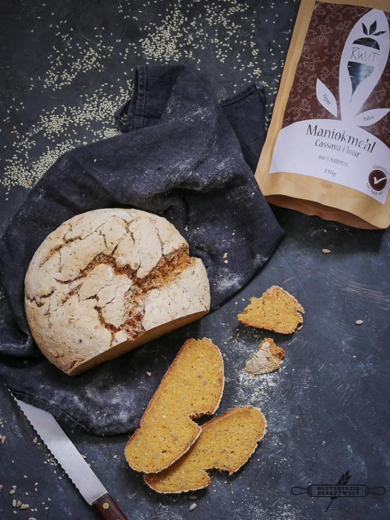 Glutenfreies Brot mit Maniokmehl