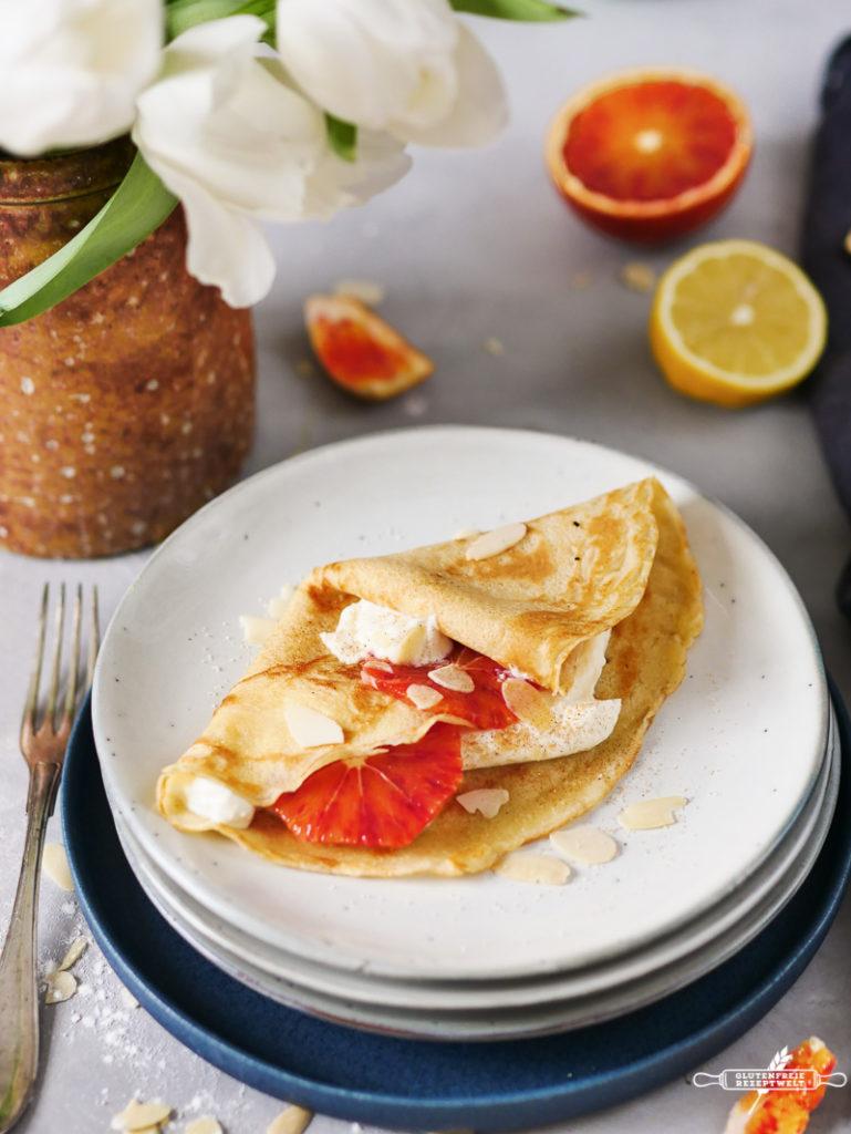 glutenfreie, süße Pfannkuchen