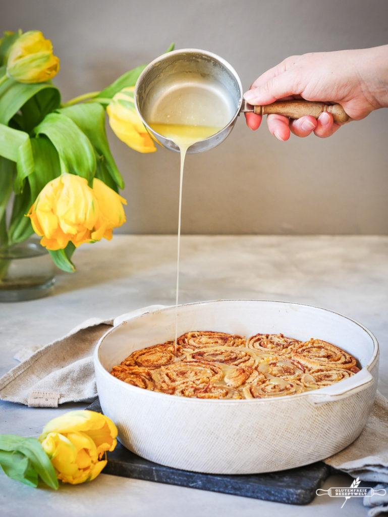 Glutenfreie Zimtschnecken mit Maniokmeh