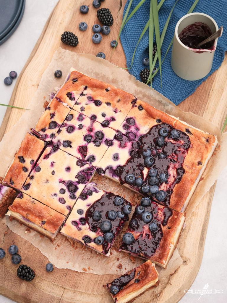 Heidelbeer - Quarkkuchen, glutenfre