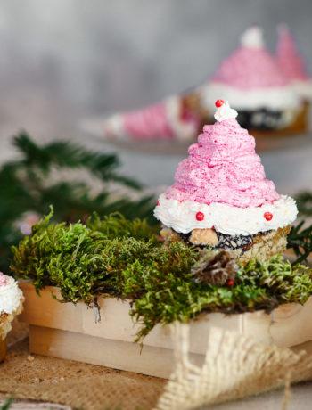 Böcker Cupcake Weihanchtsmann
