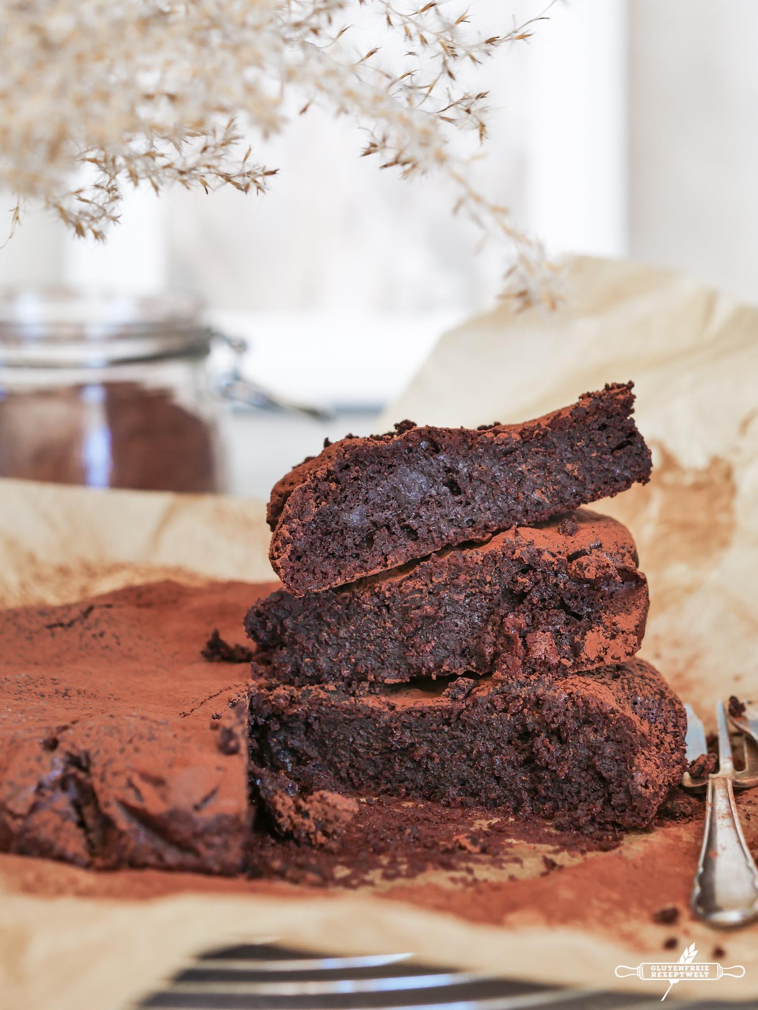 Schokoladenkuchen ohne Mehl, glutenfrei