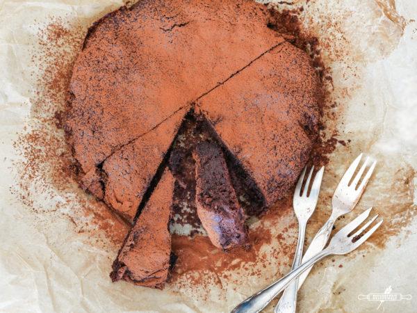 Schokoladenkuchen ohne Mehl, glutenfrei-4